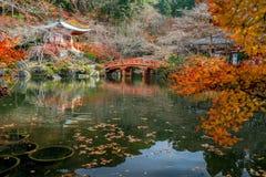 在daigoji寺庙的秋天 免版税库存图片