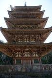 在Daigoji寺庙,京都的高塔 库存图片