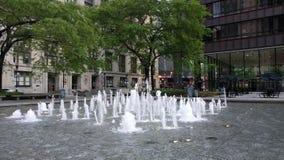 在Daley广场,芝加哥,美国的喷泉 市政府办公室 股票录像