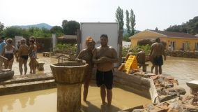 在dalyan的泥浴 库存图片