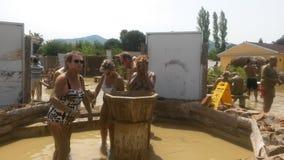 在dalyan的泥浴 库存照片