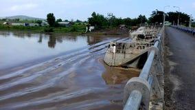 在DAM Benges的桥梁 库存照片