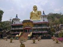 在Dambulla下寺庙的佛教博物馆  免版税库存照片
