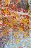 在Dambulla洞的古老壁画 库存照片