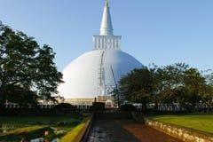 在Dambullah斯里兰卡的佛教寺庙废墟 库存图片