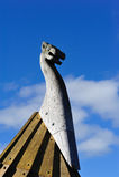 在Dannevirke,新西兰附近的北欧雕塑 库存图片