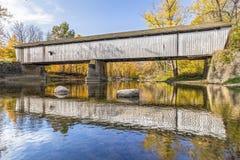 在Darlington的被遮盖的桥 免版税库存照片