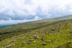在Dartmoor的Belstone突岩 免版税库存照片