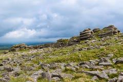 在Dartmoor的Belstone突岩 免版税库存图片