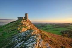 在Dartmoor的Brentor 免版税库存图片