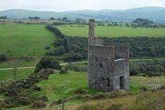 在Dartmoor英国的遗弃矿山巷道 图库摄影