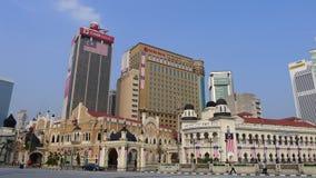 在Dataran独立报广场附近的殖民地时代大厦 库存图片