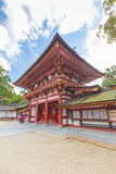 在Dazaifu的Tenmangu寺庙在福冈,日本 图库摄影