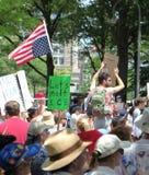 在DC的抗议游行 免版税库存照片