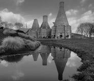 在Dedensvaart的石灰窑 库存照片