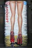 在Delancey街的墙壁上的艺术在更低的东边在曼哈顿 免版税库存图片