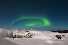 在Denali的北极光 免版税库存照片