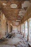 在Derawar堡垒的游廊在巴哈瓦尔布尔巴基斯坦 免版税库存图片