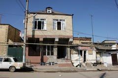 在Derbent 10月26日的展开 免版税库存图片