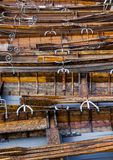 在Derwent岸的划艇浇灌,凯西克 免版税库存照片