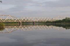 在Desna河的日出 免版税库存图片