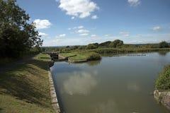 在Devizes英国的Kennet和Avon运河 库存照片