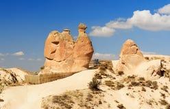 在Devrent谷的骆驼岩石在卡帕多细亚 火鸡 免版税图库摄影