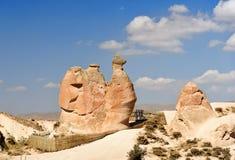 在Devrent谷的骆驼岩石在卡帕多细亚 火鸡 免版税库存图片