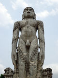 在Dharmasthala,卡纳塔克邦,印度的Gomateshwara Bahubali雕象 免版税库存照片