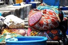 在Dhobi Ghat,孟买,印度的洗衣店 免版税图库摄影