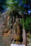 在Dhowa王侯玛哈Vihara岩石寺庙, Bandarawela,斯里兰卡的未完成的菩萨图象 免版税库存照片