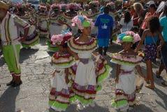 在Dia di林孔博内尔岛的游行 库存图片