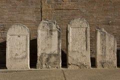 在Diocletian浴里面的石头 库存图片