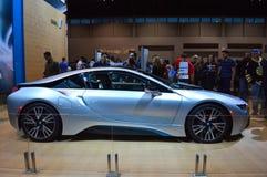 在dispay的2014 BMW i8在Chicgago车展 库存图片