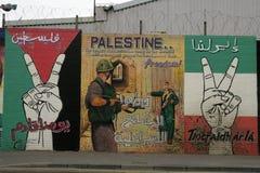 在Divis街,贝尔法斯特的共和党壁画 免版税图库摄影