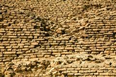 在Djoser金字塔的砖  免版税库存照片
