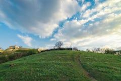 在Dnieper附近的小山 库存图片