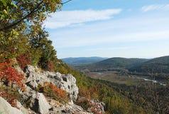 在Doberdo附近的秋天风景 免版税库存图片