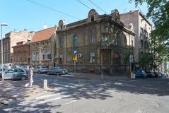 在Dobracina街道上的老房子在贝尔格莱德 库存照片