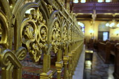 在Dohany街道伟大的犹太教堂的装饰 免版税图库摄影