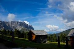 在Dolomiti的早晨 库存照片