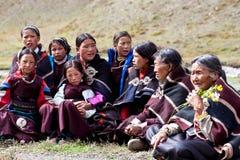 在Dolpo,尼泊尔的满月节日 免版税库存照片