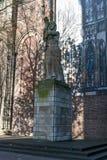 在Dom教会旁边的雕象在乌得勒支 图库摄影