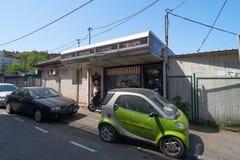在Dorda Jovanovica街道上的面包店 库存照片
