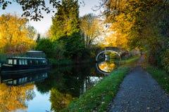 在Dowley空白宾利的利兹利物浦运河 免版税库存照片