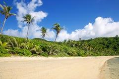 在Drawaqa海岛,亚萨瓦群岛,斐济上的沙滩 免版税库存图片