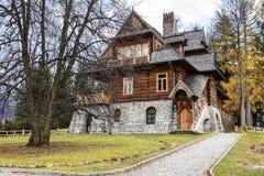 在Droga na Koziniec的别墅荚Jedlami 库存图片