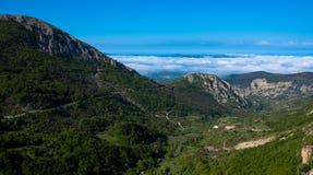 在Drome的风景在法国 免版税库存照片