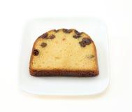 在dsih的重糖重油蛋糕 免版税库存图片