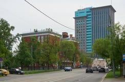 在Dubininskaya街道上在莫斯科 库存图片